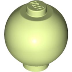 LEGO part 37837 Brick Round 2 x 2 Sphere with Stud [Plain] in Spring Yellowish Green/ Yellowish Green