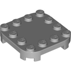 LEGO part 66792 Plate Round Corners 4 x 4 x 2/3 Circle with Reduced Knobs in Medium Stone Grey/ Light Bluish Gray