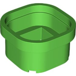 LEGO part 66787 Pipe 6 x 6 (Warp Pipe) in Bright Green