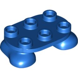 LEGO part 66859 Feet, 2 x 3 x 2/3 with 6 Studs on Top in Bright Blue/ Blue