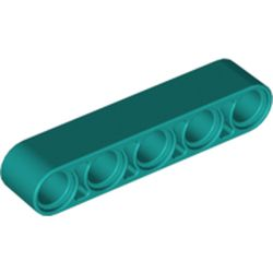 LEGO part 32316 Technic Beam 1 x 5 Thick in Bright Bluish Green/ Dark Turquoise