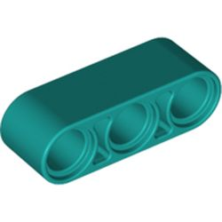 LEGO part 32523 Technic Beam 1 x 3 Thick in Bright Bluish Green/ Dark Turquoise