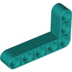 LEGO part 32526 Technic Beam 3 x 5 L-Shape Thick in Bright Bluish Green/ Dark Turquoise