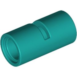 LEGO part 29219 Technic Pin Connector Round [Slotted] in Bright Bluish Green/ Dark Turquoise