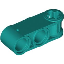 LEGO part 42796 Technic Axle and Pin Connector Perpendicular 3L with 2 Pin Holes in Bright Bluish Green/ Dark Turquoise