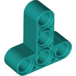 LEGO part 60484 Technic Beam 3 x 3 T-Shape Thick in Bright Bluish Green/ Dark Turquoise