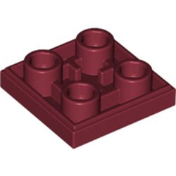 LEGO part 11203 Tile Special 2 x 2 Inverted in Dark Red