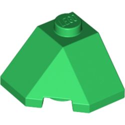 LEGO part 13548 Wedge Sloped 45° 2 x 2 Corner in Dark Green/ Green