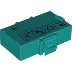 LEGO part 67704 Mindstorms Robot Inventors Rechargeable Battery in Bright Bluish Green/ Dark Turquoise