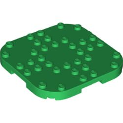 LEGO part 66790 Plate Round Corners 8 x 8 x 2/3 Circle with Reduced Knobs in Dark Green/ Green