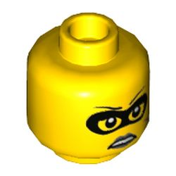 LEGO part 68020 MINI HEAD, NO. 3184 in Bright Yellow/ Yellow
