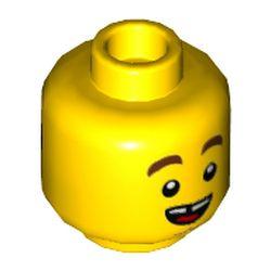 LEGO part 68031 MINI HEAD, NO. 3163 in Bright Yellow/ Yellow
