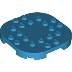 LEGO part 66789 Plate Round Corners 6 x 6 x 2/3 Circle with Reduced Knobs in Dark Azure