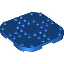 LEGO part 66790 Plate Round Corners 8 x 8 x 2/3 Circle with Reduced Knobs in Bright Blue/ Blue
