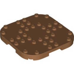 LEGO part 66790 Plate Round Corners 8 x 8 x 2/3 Circle with Reduced Knobs in Medium Nougat