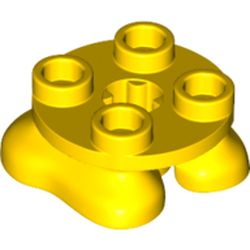 LEGO part 66858 Feet, 2 x 2 x 2/3 with 4 Studs on Top in Bright Yellow/ Yellow
