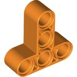 LEGO part  Technic Beam 3 x 3 T-Shape Thick in Bright Orange/ Orange