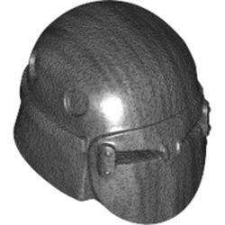 LEGO part 68644 Minifig Helmet SW Knight of Ren in Titanium Metallic/ Pearl Dark Gray