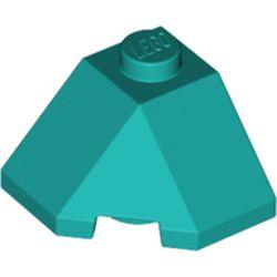 LEGO part 13548 Wedge Sloped 45° 2 x 2 Corner in Bright Bluish Green/ Dark Turquoise