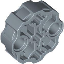 LEGO part 98585 Large Figure Weapon, Barrel with 2 Pin Holes and 3 Axle Holes in Sand Blue