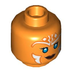 LEGO part 68670 MINI HEAD, NO. 3264 in Bright Orange/ Orange