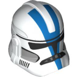 LEGO part 68713 Minifig Helmet SW Clone Trooper 501st Legion Blue Design in White