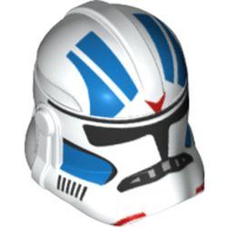 LEGO part 68717 Minifig Helmet SW Clone Trooper Commander 501st Legion Blue Design in White