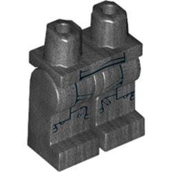 LEGO part 68725 MINI LOWER PART, NO. 1931 in Titanium Metallic/ Pearl Dark Gray