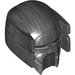 LEGO part 68733 Minifig Helmet SW Knight of Ren with Silver Visor in Titanium Metallic/ Pearl Dark Gray