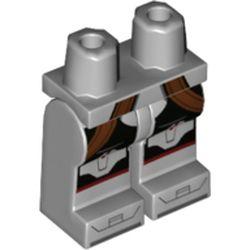 LEGO part 970c00pr1920 MINI LOWER PART, NO. 1920 in Medium Stone Grey/ Light Bluish Gray