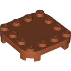 LEGO part 66792 Plate Round Corners 4 x 4 x 2/3 Circle with Reduced Knobs in Dark Orange