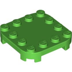 LEGO part 66792 Plate Round Corners 4 x 4 x 2/3 Circle with Reduced Knobs in Bright Green