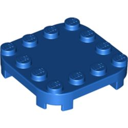 LEGO part 66792 Plate Round Corners 4 x 4 x 2/3 Circle with Reduced Knobs in Bright Blue/ Blue