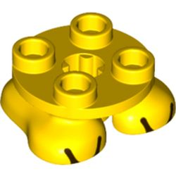 LEGO part 68915 Feet, 2 x 2 x 2/3 with 4 Studs on Top and Toes Print in Bright Yellow/ Yellow
