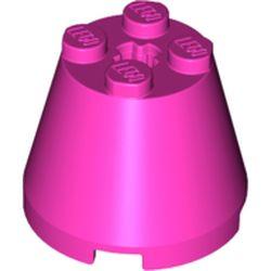 LEGO part 6233 Cone 3 x 3 x 2 in Bright Purple/ Dark Pink