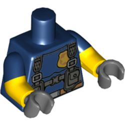 LEGO part 16360 MINI UPPER PART, NO. 5190 in Earth Blue/ Dark Blue