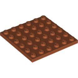 LEGO part 3958 Plate 6 x 6 in Dark Orange