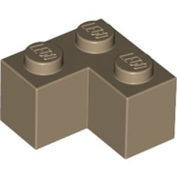 LEGO part 2357 Brick 2 x 2 Corner in Sand Yellow/ Dark Tan