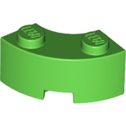 LEGO part 85080 Brick Round Corner 2 x 2 Macaroni with Stud Notch and Reinforced Underside [New Style] in Bright Green