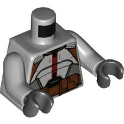 LEGO part 973c14h03pr5226 MINI UPPER PART, NO. 5226 in Medium Stone Grey/ Light Bluish Gray