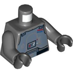 LEGO part 76382 MINI UPPER PART, NO. 5229 in Dark Stone Grey / Dark Bluish Gray