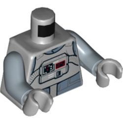 LEGO part 76382 MINI UPPER PART, NO. 5230 in Medium Stone Grey/ Light Bluish Gray
