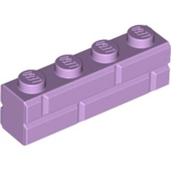 LEGO part 15533 Brick Special 1 x 4 with Masonry Brick Profile in Lavender