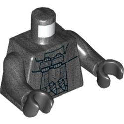 LEGO part 76382 MINI UPPER PART, NO. 5241 in Titanium Metallic/ Pearl Dark Gray