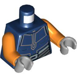 LEGO part 76382 MINI UPPER PART, NO. 5242 in Earth Blue/ Dark Blue