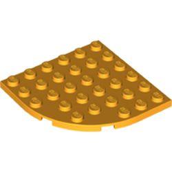 LEGO part  Plate Round Corner 6 x 6 in Flame Yellowish Orange/ Bright Light Orange
