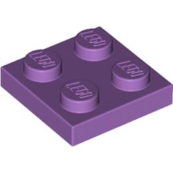 LEGO part 3022 Plate 2 x 2 in Medium Lavender