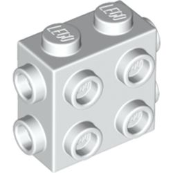 LEGO part 67329 Brick Special 1 x 2 x 1 2/3 with Eight Studs on 3 Sides in White