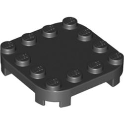LEGO part 66792 Plate Round Corners 4 x 4 x 2/3 Circle with Reduced Knobs in Black