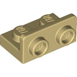 LEGO part 99780 Bracket 1 x 2 - 1 x 2 Inverted in Brick Yellow/ Tan